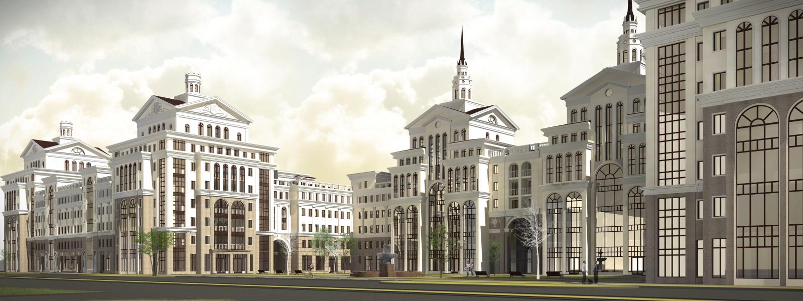 work-Проект многофункционального жилого комплекса по ул. Ангарской в Дзержинском районе Волгограда
