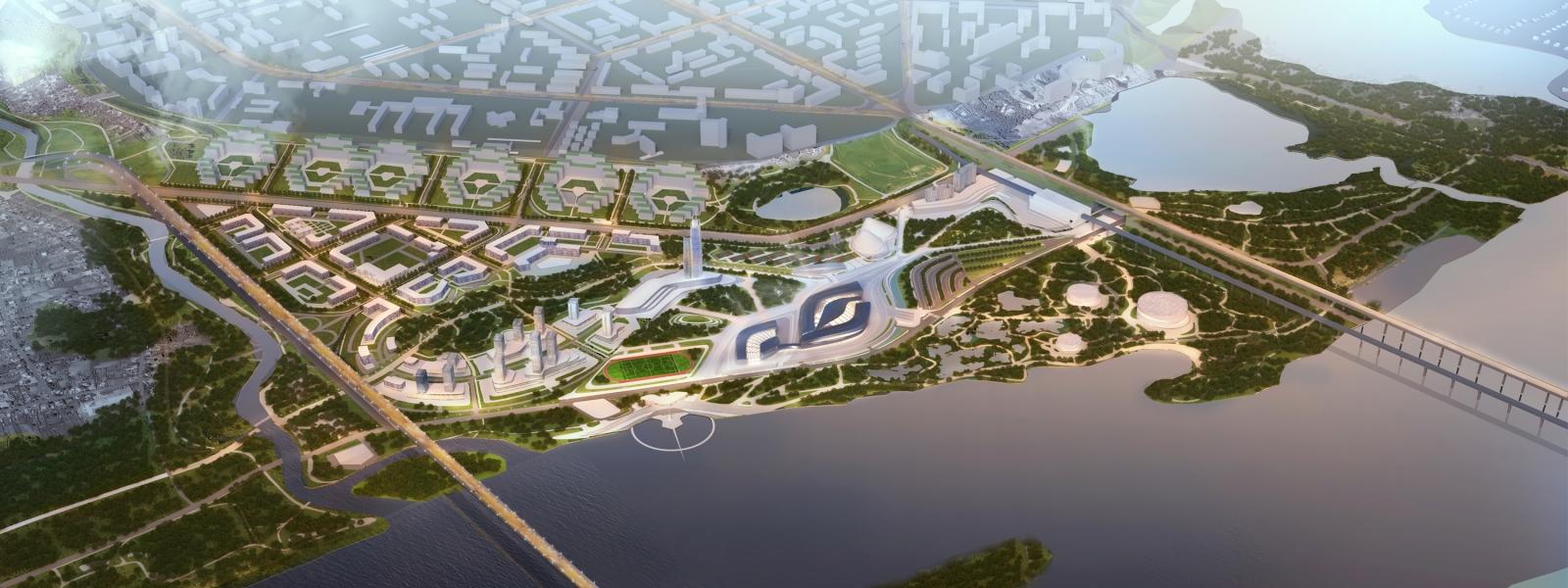 work-Многофункциональный комплекс с ледовой ареной в градоэкологическом каркасе левобережья Новосибирска