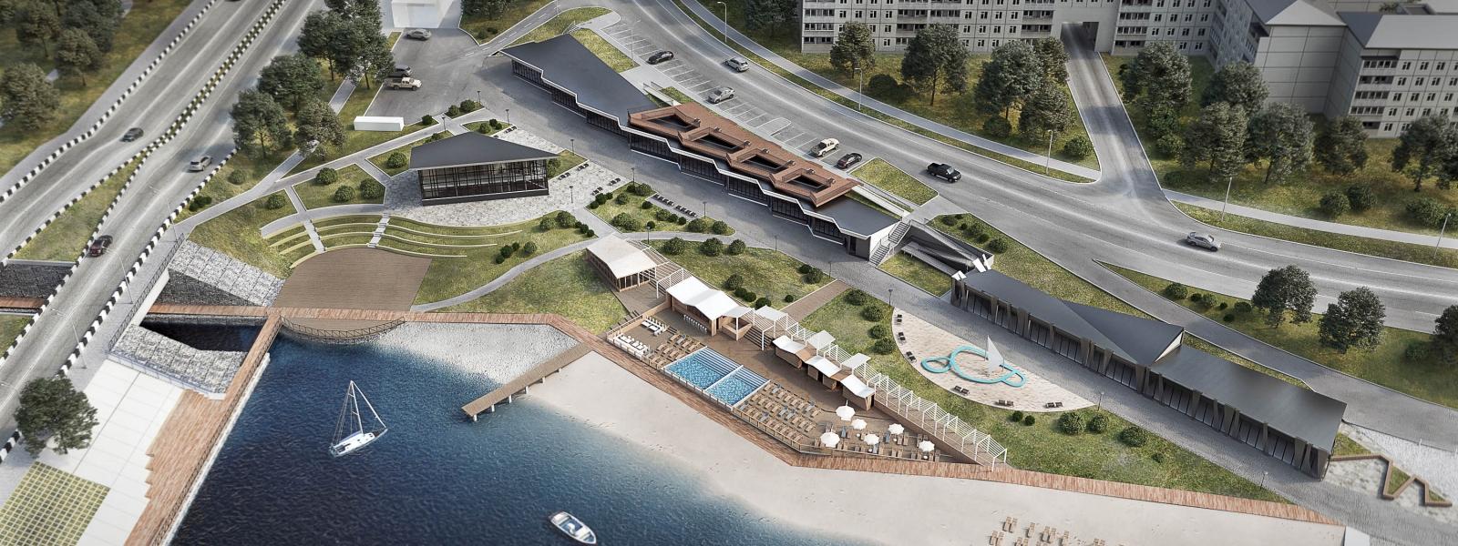 work-Проект реабилитации набережной в городе Иркутске, микрорайон Солнечный в рамках формирования  парка «Солнечная дорога»